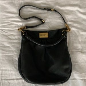 Marc by Marc Jacobs Black Pebbled Leather Hobo Bag